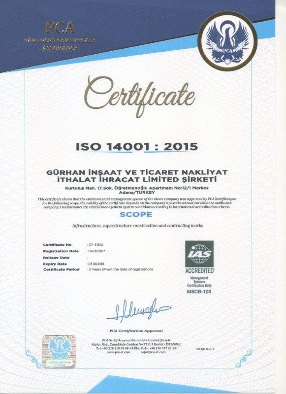 Gurhan-Construction-ISO14001